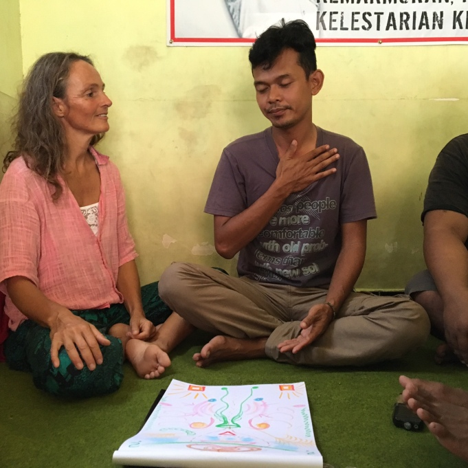 Aura healing therapy with my Indonesian friends